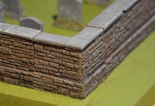 3cm Cemetery Corner Wall x2