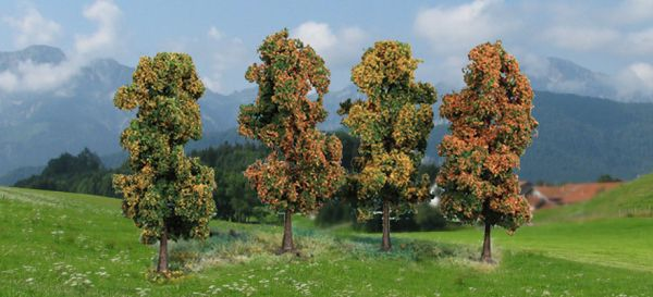4 Herbstbäume 11 cm hoch von Heki