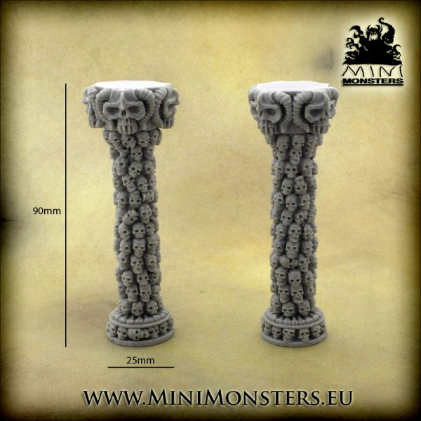 Skulls Columns / Schädelsäulen von Minimonsters