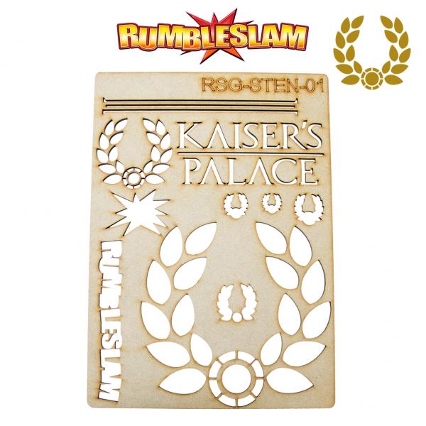 RUMBLESLAM Casino Stencil - Kaiser's Palace