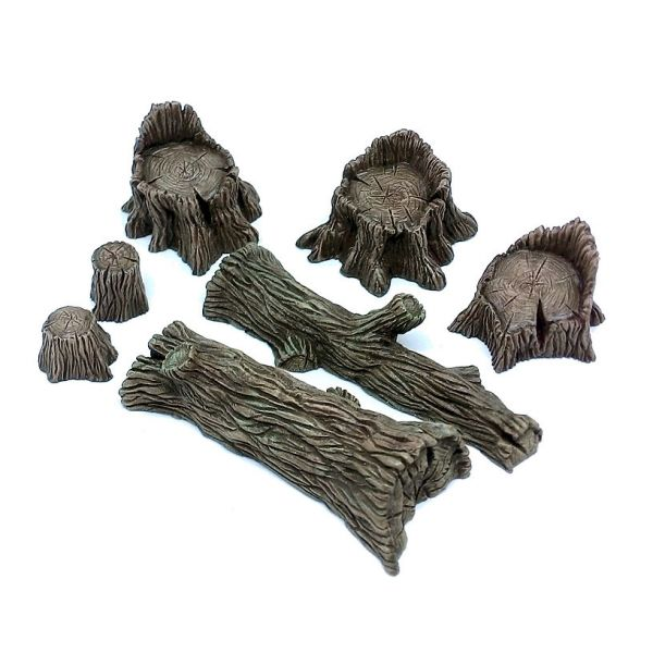 Timber Set: Stumps and Fallen Trees / Baumstümpfe und Baumstämme