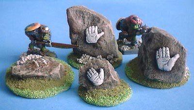 White Hand Stones x4