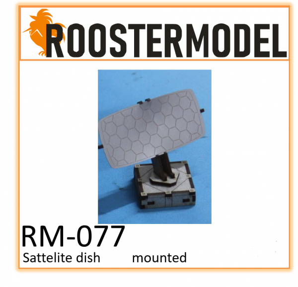 Satelite dish roof mounted