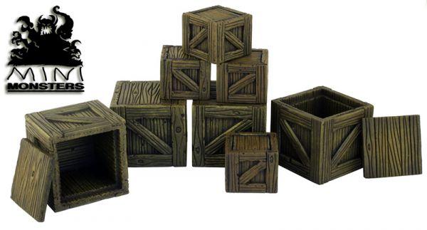 Schöner Stapel aus Holzkisten zum kleinen Preis