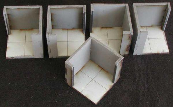 Diese 5 Wandecken inkl. Bodenplatten sind im Lieferumfang enthalten. Modulares Terra-Blocks™ Gelände von Sally 4th