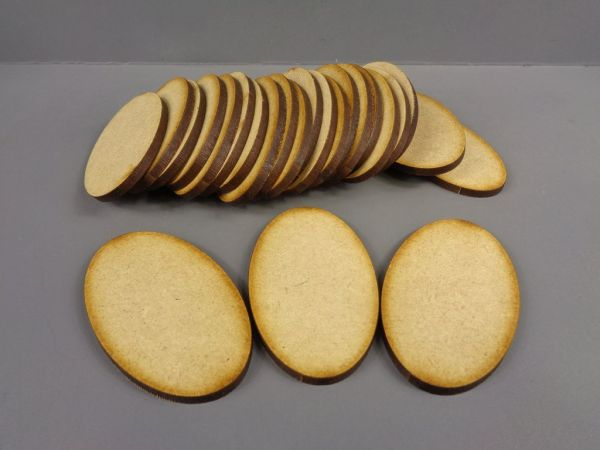 MDF Oval Bases 60mm x 35mm
