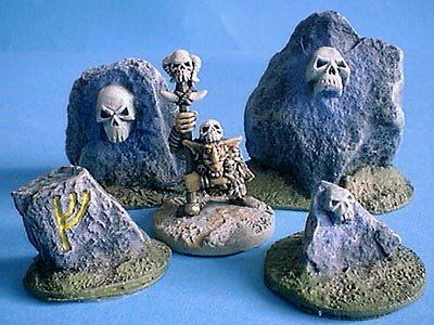 Skull Stones x4