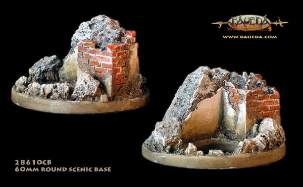 Hard Cover - 60mm Round Scenic Base