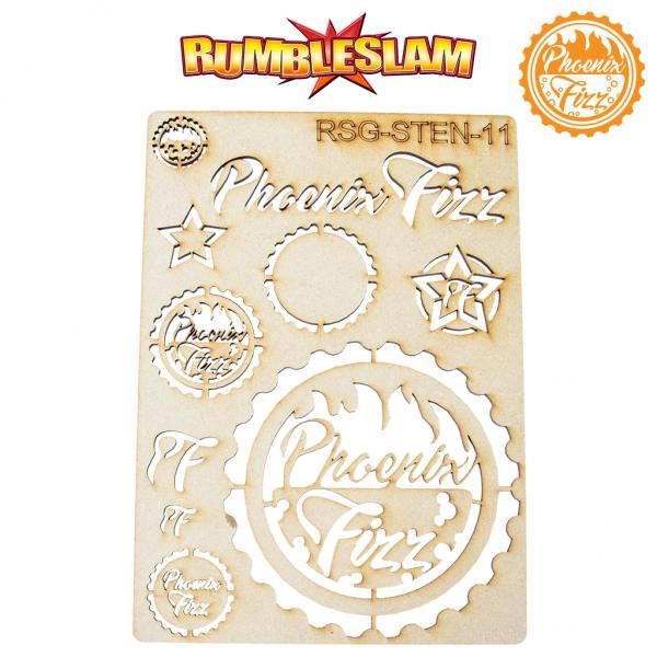 RUMBLESLAM Sponsor Logo Stencil - Phoenix Fizz