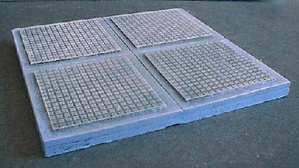 6cm x 6cm 'A' Pattern FLoor Tiles x2