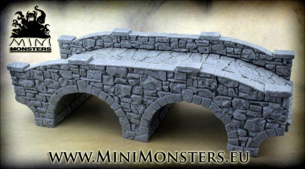 Die Brücke besteht aus 3 Teilen