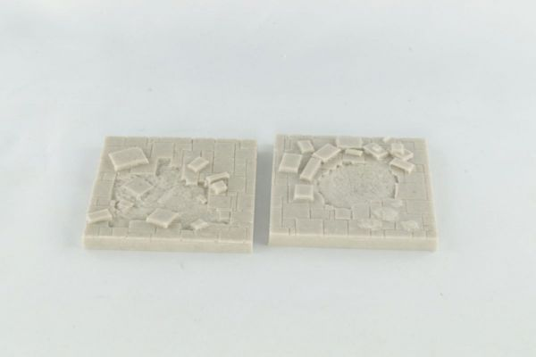 6cm x 6cm Dungeon Floor with Damage x2