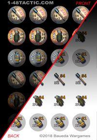 24 Grenade Markers Punchboard