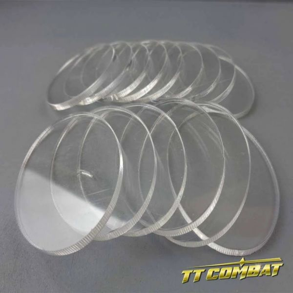 Oval Clear Cavalry Bases 15 (35 x 60mm)