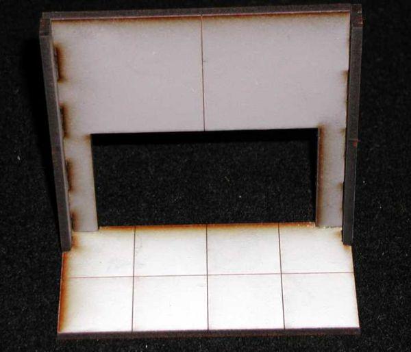 2 x Wand (double Hight) mit breitem Durchlass. Modulares Terra-Blocks™ Tabletop Gelände von Sally 4th