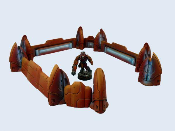 Die Tau Ceti Defence Line lässt sich den Spieltisch Gegebenheiten anpassen.