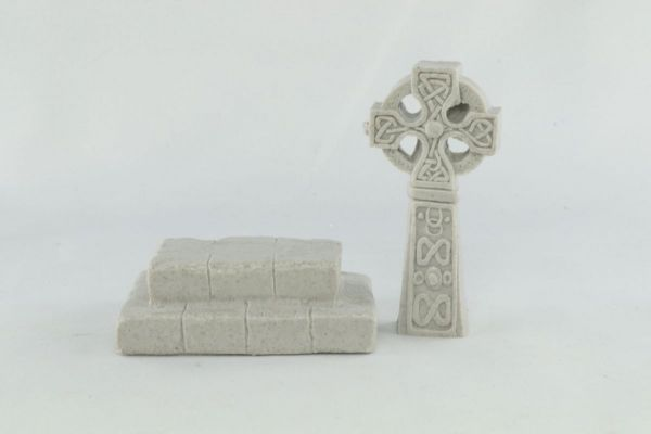 Celtic Stone Cross on Plinth