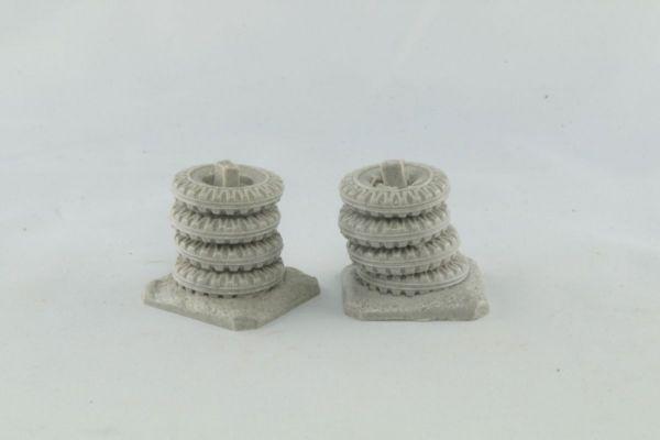 Tyrewall Pillars x2