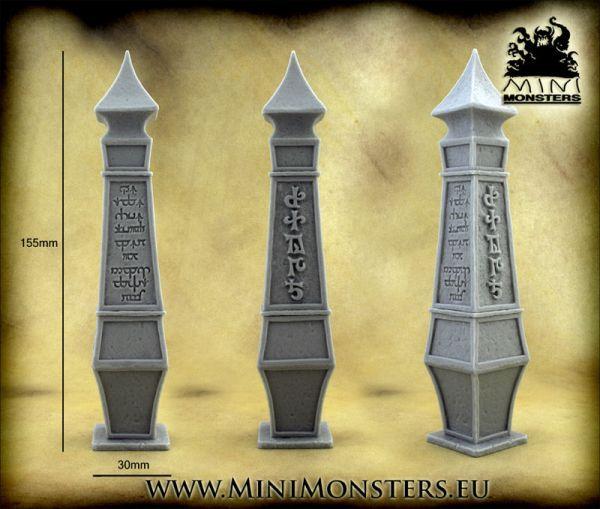 Dieser Obelisk von Minimonsters ist einmal im Lieferumfang enthalten