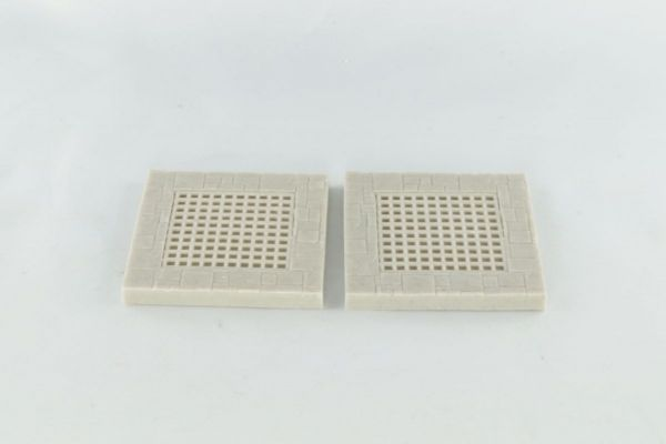 6cm x 6cm Dungeon Floor with Large Grill x2