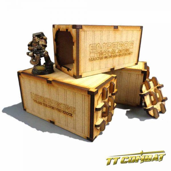 Mecharium Containers (3) - Sci-Fi Gothic Scenics