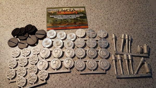 German Fallschirmjager tokens set (48 Pcs.)