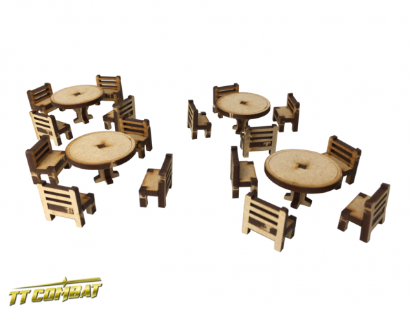 Tables and Chairs Set - Fantasy Scenics