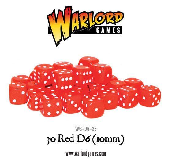 rote 10mm Würfel (W6)