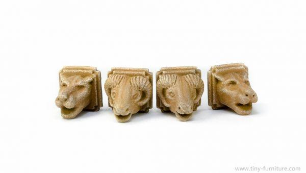 Stone Animal Heads / Wandstein Tierköpfe