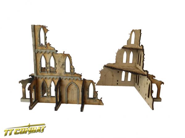 Gothic Corner Ruins A - Sci-Fi-Gothic Scenics