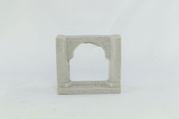 6cm Dungeon Wall with arch and Pillars