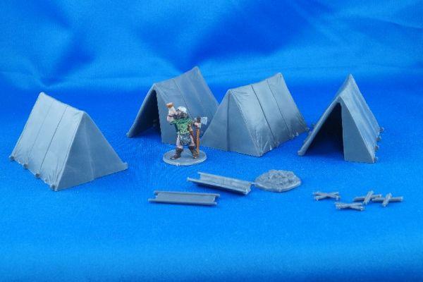 4 Zelte plus Lagerfeuer plus Tuchwannen - was will man mehr.