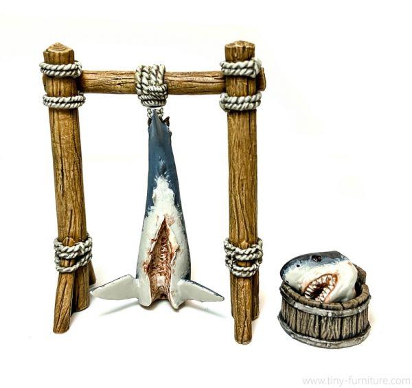 Carcass of a Shark / Haifisch auf Gestell