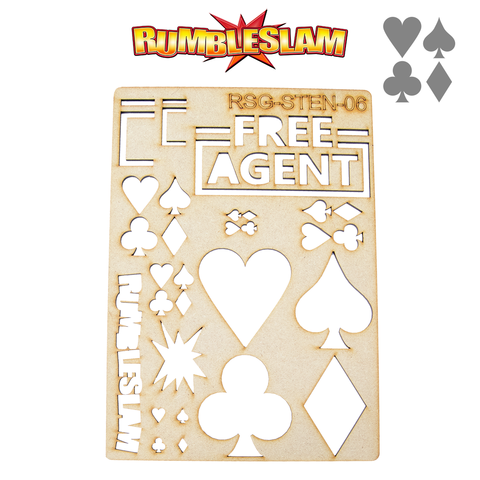 RUMBLESLAM Casino Stencil - The Free Agents