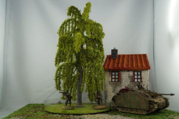 Im Größenvergleich mit 28mm / 1:56 Miniaturen der von Warlord Games