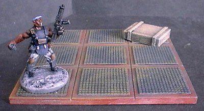 9cm x 9cm 'A' Pattern Floor Tile x2
