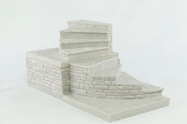 6cm Dungeon Curved Staircase x2 with Hollow BLock