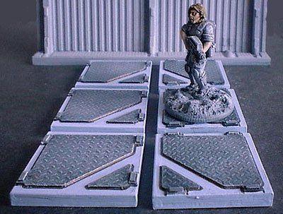 3cm x 3cm 'D' Pattern Floor Tiles x6