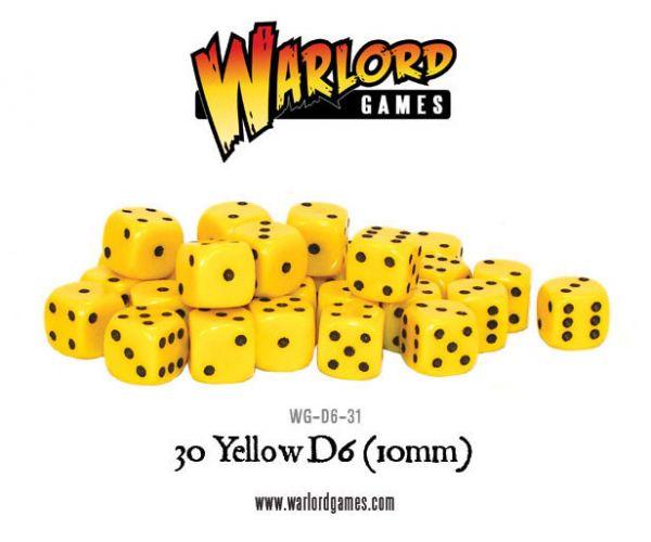 gelbe 10mm Würfel (W6)