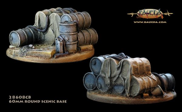 Fuel Dump - 60mm Round Scenic Base