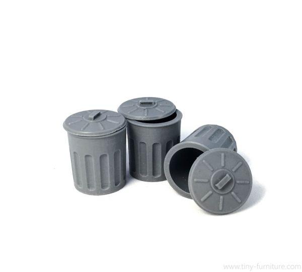 Garbage Cans x3 / Mülltonnen