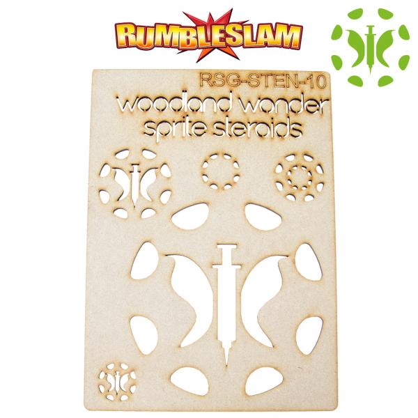 RUMBLESLAM Sponsor Logo Stencil - Woodland Wonder Sprites Steroids