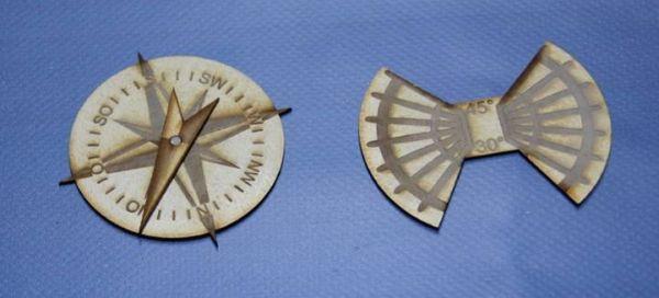 Windrose und Winkel Schablone (HDF oder Acryl)