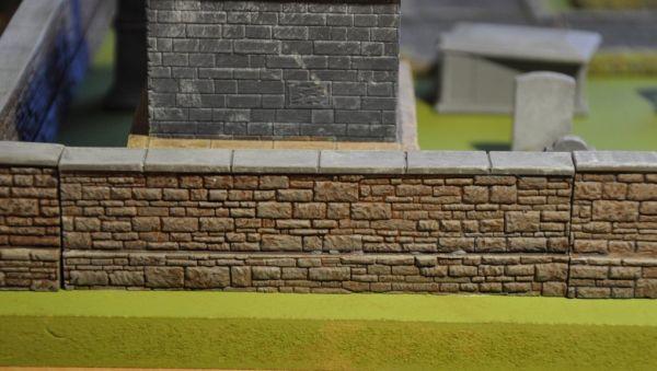 12cm Cemetery wall x2