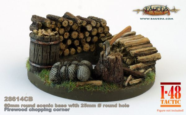 Firewood - 60mm Round Scenic Base
