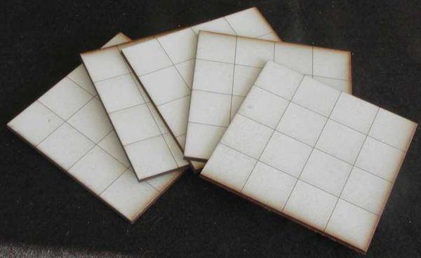 Diese 5 Bodenplatten sind im Lieferumfang enthalten. Modulares Terra-Blocks™ Gelände von Sally 4th